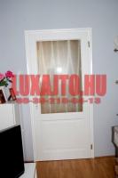 Fehér nagy üveges beltéri ajtó csere